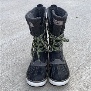 Ugg Baroness winter boots in charcoal